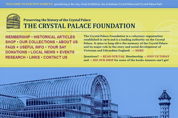 Crystal Palace Foundation website (opens in new window)