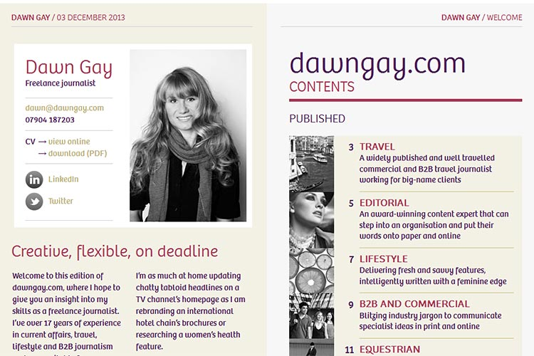 Dawn Gay website (opens in new window)