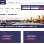 Invest in Law website
