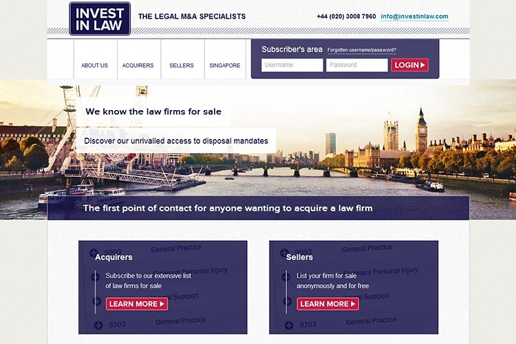 Invest in Law website (opens in new window)
