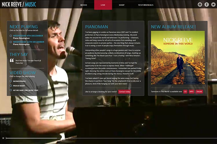 Nick Reeve Music website (opens in new window)