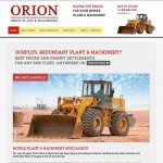 Orion Forklift & Plant website