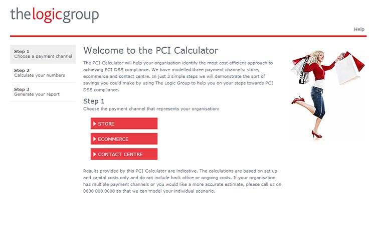 The Logic Group PCI Calculator website
