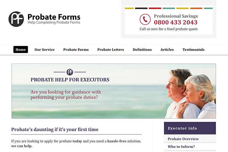 Probate Forms website (opens in new window)