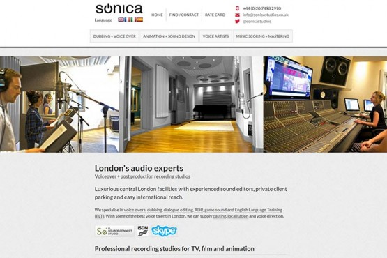 Sonica Studios website (opens in new window)