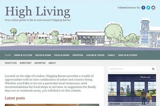 High Living Barnet website (opens in new window)