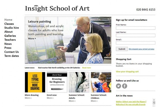 Insight School of Art website (opens in new window)