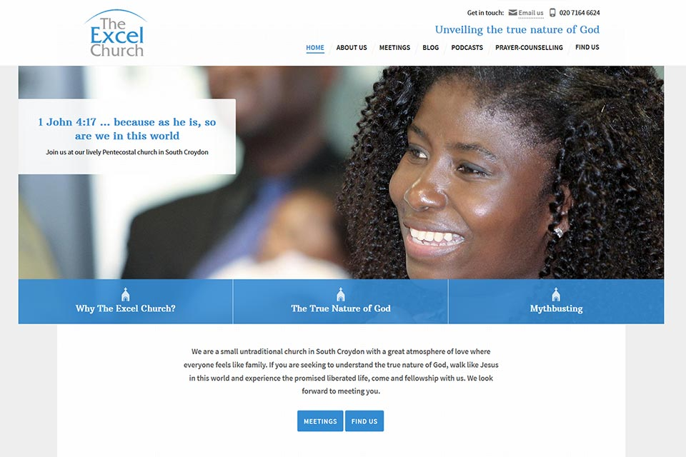 The Excel Church website
