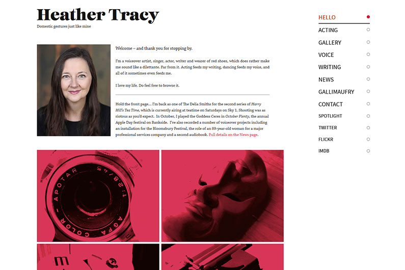 Heather Tracy website