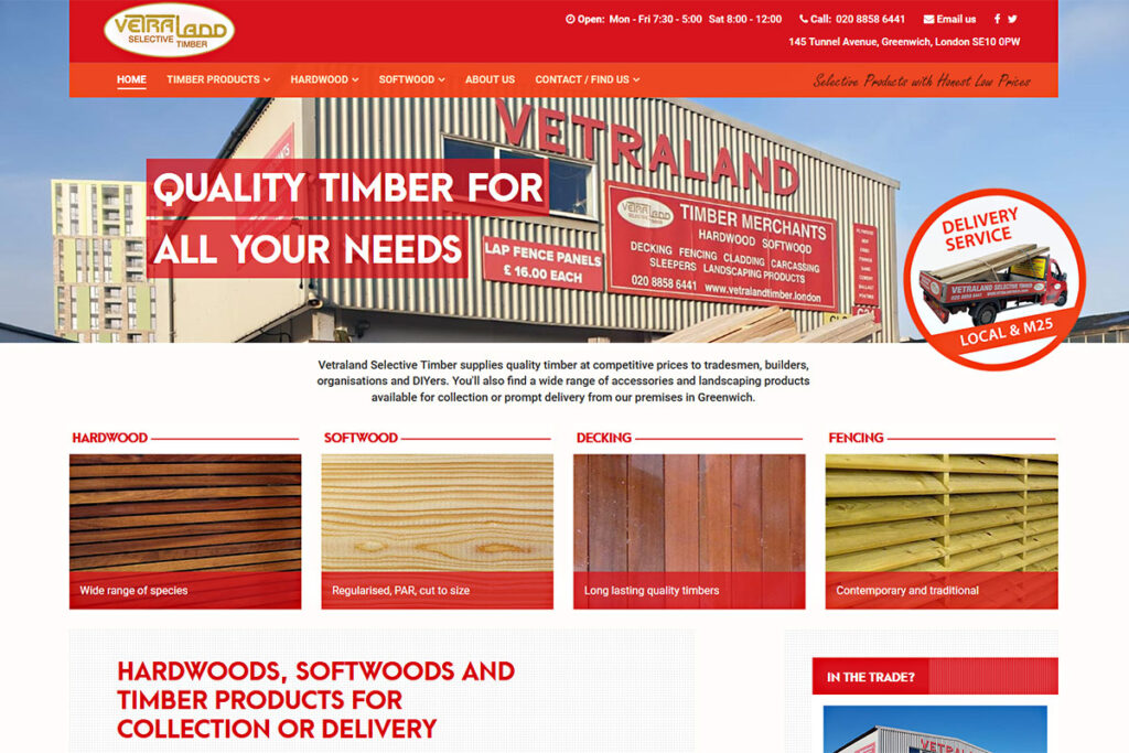 Vetraland Selective Timber website