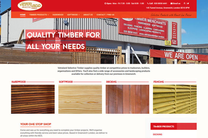 Vetraland Selective Timber website