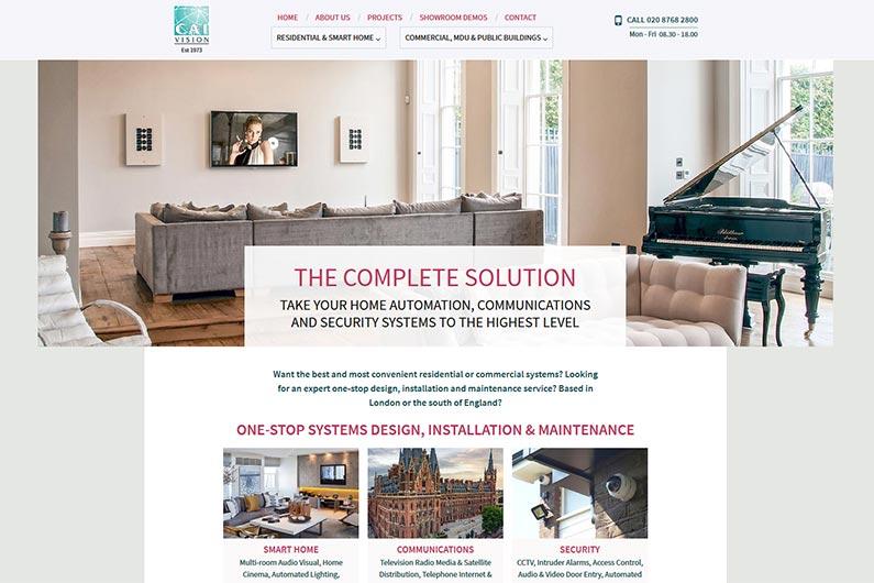 CAI Vision website