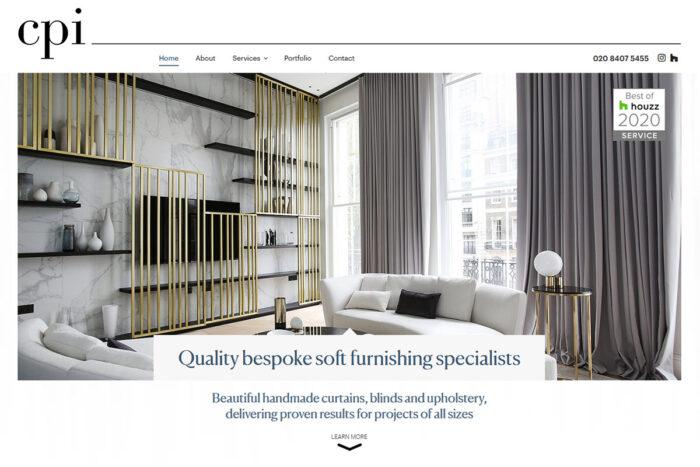 Curtains Plus Interiors website