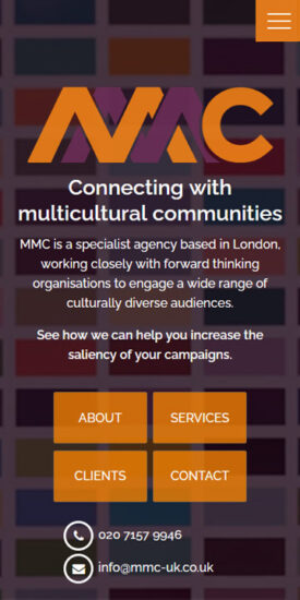 MMC website - mobile version