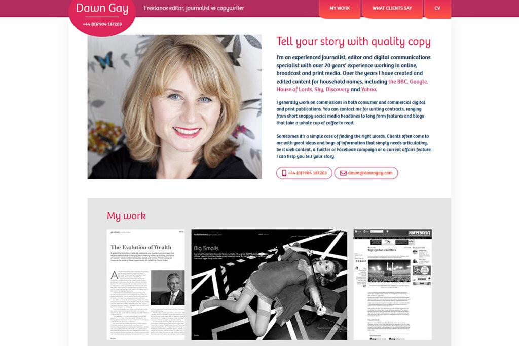 Dawn Gay website