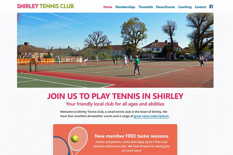 Shirley Tennis Club website