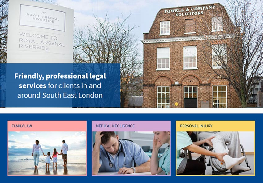 Powell & Co website powell-solicitors.co.uk
